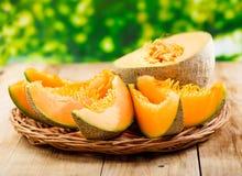Ny melon Arkivfoton