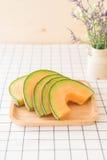 ny melon för cantaloupe Arkivfoton