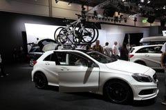 Ny Mercedes Benz En-grupp kompakt bil Arkivfoto