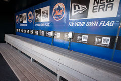 NY Mets Dugout Stock Photography