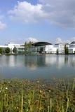 Ny mitt för Munich handelmässa i Muenchen Fotografering för Bildbyråer