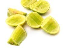 Ny mogen limefrukt på vitbakgrund Royaltyfri Bild