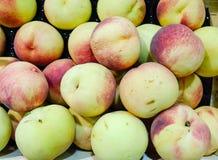 Ny mogen persikabakgrund Fotografering för Bildbyråer