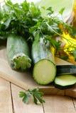 Ny mogen zucchini arkivfoto