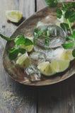 Ny mojito med citronen arkivfoto
