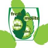 Ny mojito med limefrukt Arkivbilder