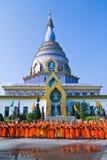 Ny monk i Chiang Mai, THAILAND 2012. arkivfoto