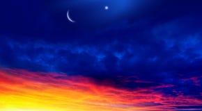 ny moon Böntid Generös Ramadan royaltyfri foto