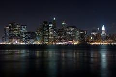 ny natt york Fotografering för Bildbyråer