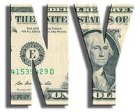 NY - New York. US Dollar texture. Royalty Free Stock Image