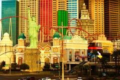 NY NY赌博娱乐场和旅馆 免版税库存照片