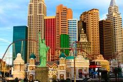 NY NY赌博娱乐场和旅馆 免版税图库摄影