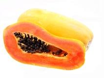 Ny och mogen papaya Fotografering för Bildbyråer
