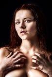 Ny och våt ung kvinna Royaltyfri Fotografi