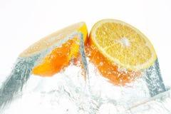 ny orange Arkivfoto