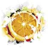Ny orange målning Arkivfoton