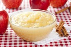 Ny organisk AppleSauce royaltyfri foto