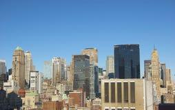 ny panorama- horisont york för stadsdag Royaltyfri Bild