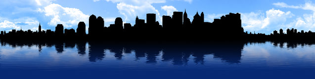 ny panorama york Royaltyfria Bilder