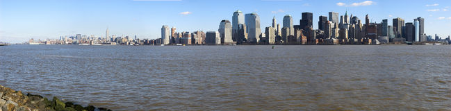ny panorama york Arkivbild