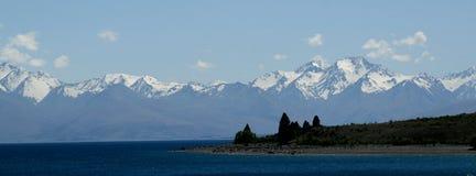 ny panorama zealand Arkivfoto