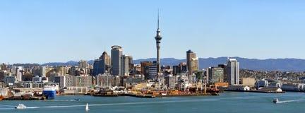 ny panorama zealand för auckland stad Arkivfoto