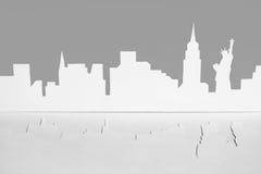 ny paper silhouette USA york för stadsutklipp Arkivbild
