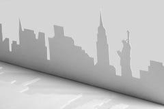 ny paper silhouette USA york för stadsutklipp Arkivfoto