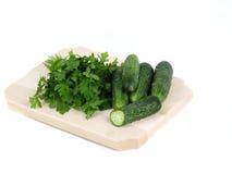 ny parsley för gurkor Fotografering för Bildbyråer