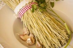 Ny pasta (tagliolinien) Royaltyfria Bilder