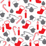 NY pattern black-red Stock Images