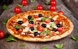Ny pizza Royaltyfria Foton