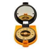 Ny plast- kompass som isoleras på vit bakgrund Royaltyfri Foto