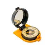 Ny plast- kompass som isoleras på vit bakgrund Fotografering för Bildbyråer
