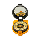 Ny plast- kompass som isoleras på vit bakgrund Royaltyfri Bild