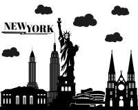ny plats york royaltyfri illustrationer
