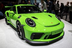 Ny Porsche 911 GT3 RS sportbil Arkivfoton