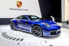 Ny Porsche 911 sportbil arkivbild