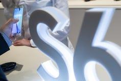 NY PRESENTATION FÖR SAMSUNG GALAX S6 Royaltyfria Bilder