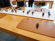 Ny presentation och remmar för Apple klockaserie 3 Royaltyfria Foton