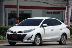 Ny privat Sedanbiltoyota Yaris ATIV Eco bil Fotografering för Bildbyråer