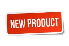 Ny produktklistermärke royaltyfri illustrationer
