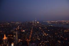 NY przy półmrokiem Fotografia Stock