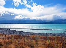 ny pukaki zealand för lake Arkivbilder