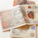 Ny 10 pund anmärkning A Royaltyfria Foton