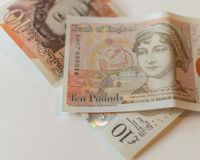 Ny 10 pund anmärkning D Fotografering för Bildbyråer