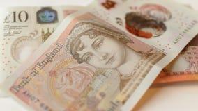Ny 10 pund anmärkning E Royaltyfria Bilder