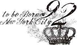 Ny queen. Consisting of text and king crown graphic design t-shirts vector illustration