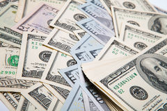 Ny räkning för dollar 100 Arkivfoton