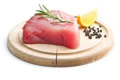 Ny rå tonfiskbiff royaltyfri fotografi
